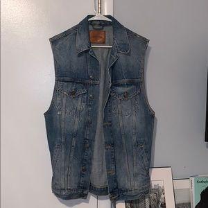 Zara denim oversized vest **PRICE NEGOTIABLE**